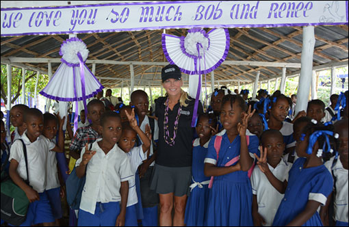 Renee Parsons with Hope for Haiti
