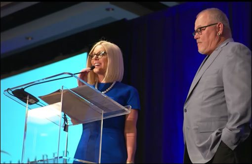 Renee & Bob Parsons on stage