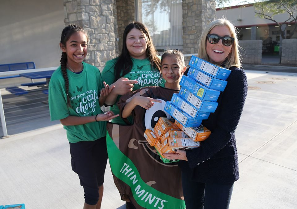 Girl scouts, Renee and girl scout cookies