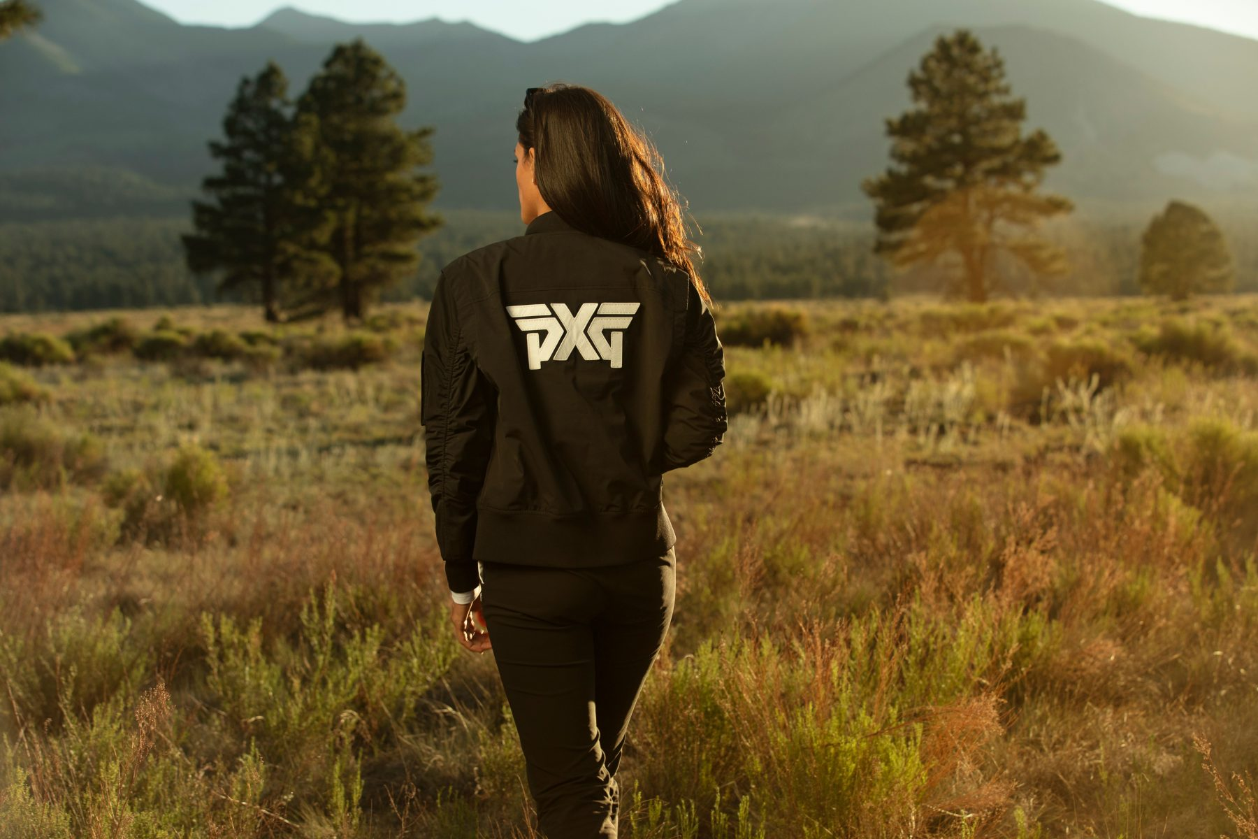 PXG Apparel FW20, woman in field
