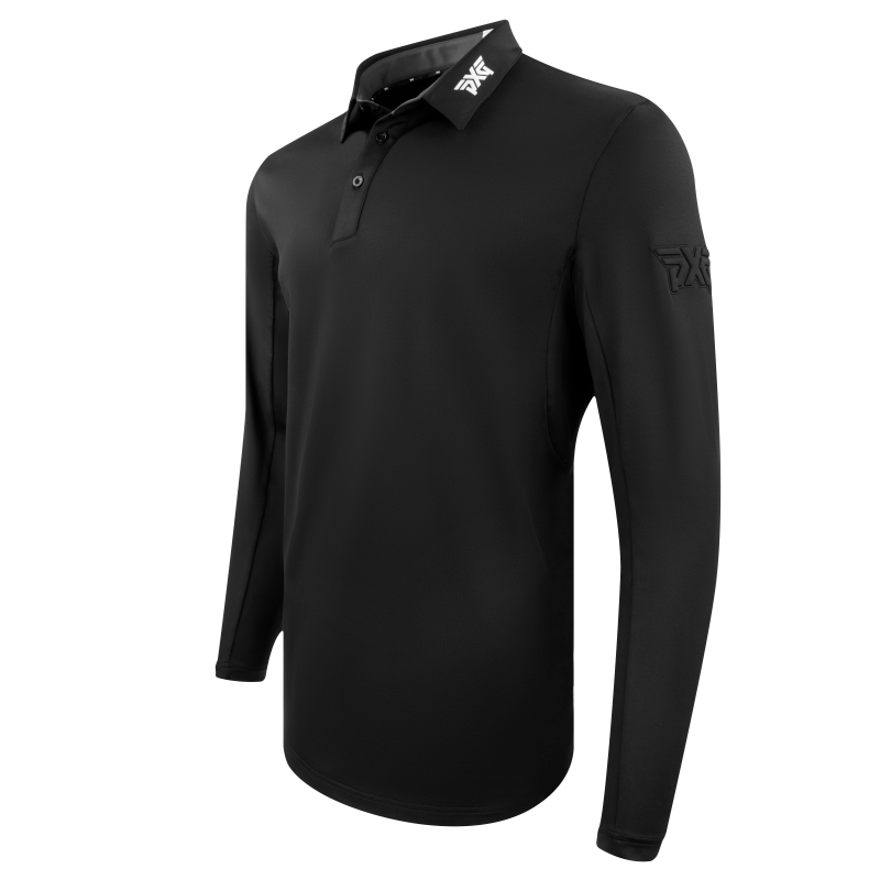 Mens Long Sleeve Performance Polo Black