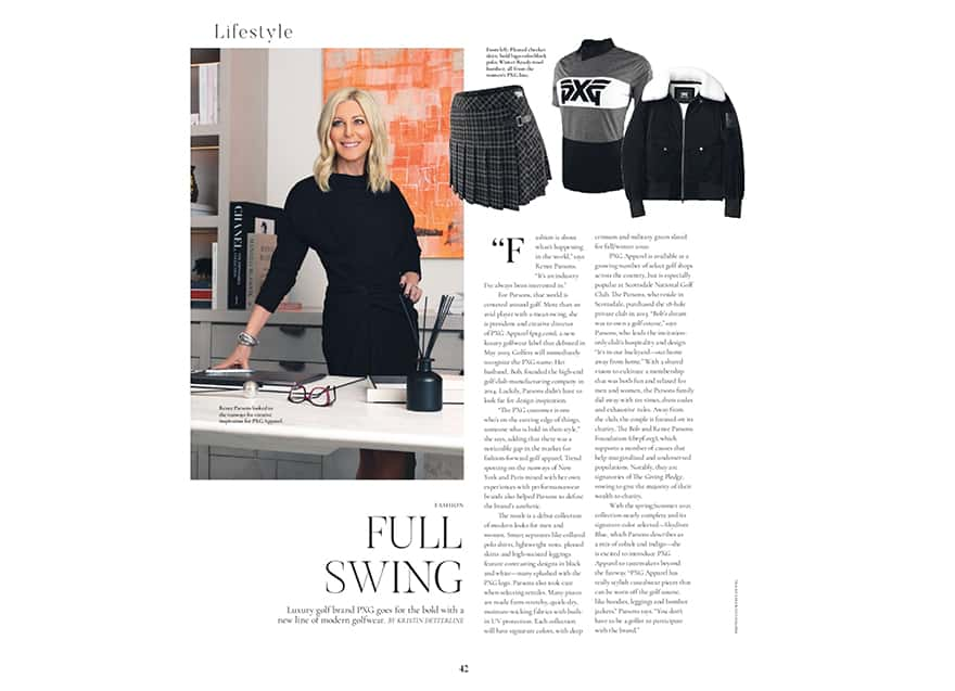 Picture of print article in Modern Luxury Magazine.