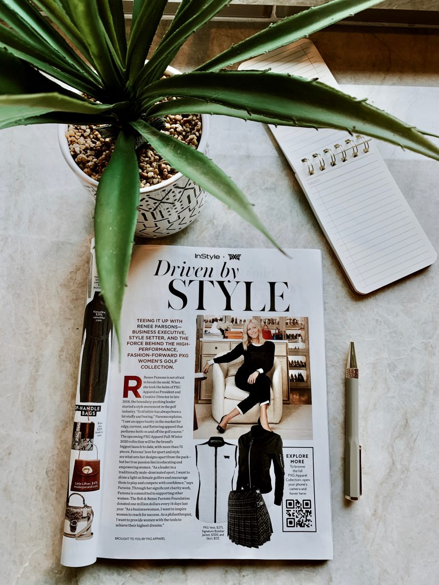 renee parsons featured in instyle magazine