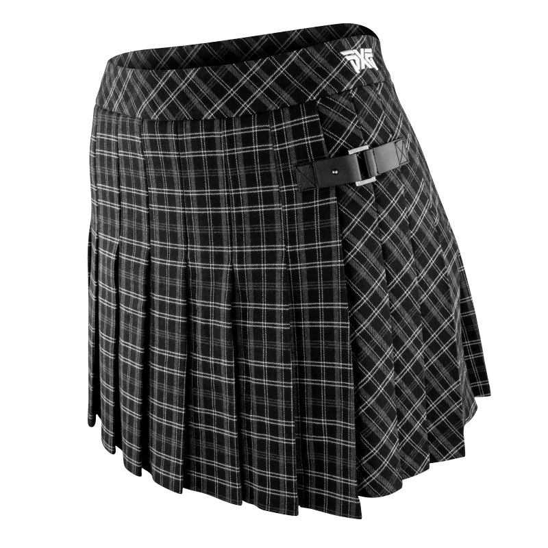Womens Pleated Checker Skirt