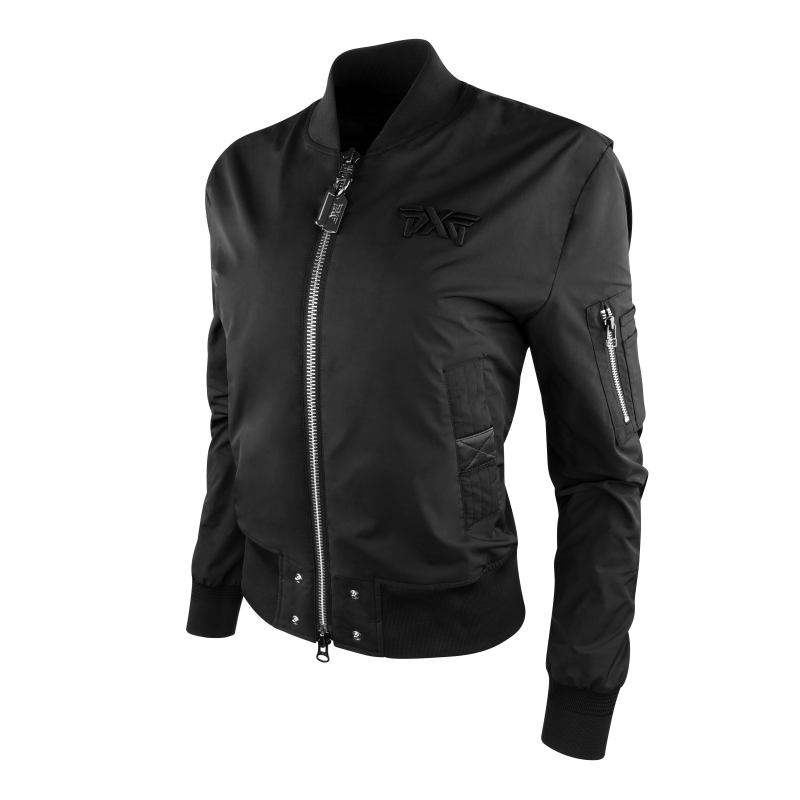 Womens Signature Zip Front Bomber Jacket