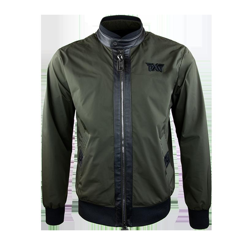 Mens-Signature-Zip-Front-Bomber-Jacket-Military-Green-800x800
