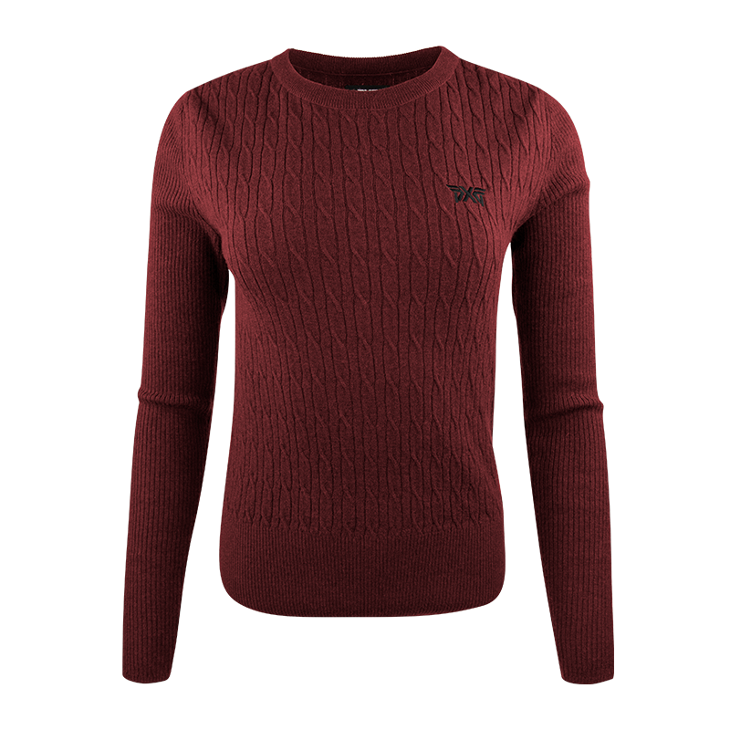 Womens-Cable-Knit-Crew-Neck-Sweater-Deep-Crimson-800x800