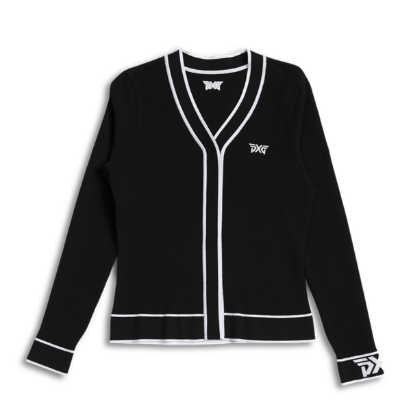 Womens-Varsity-V-Neck-Cardigan-Black-Lay-Flat-800x800
