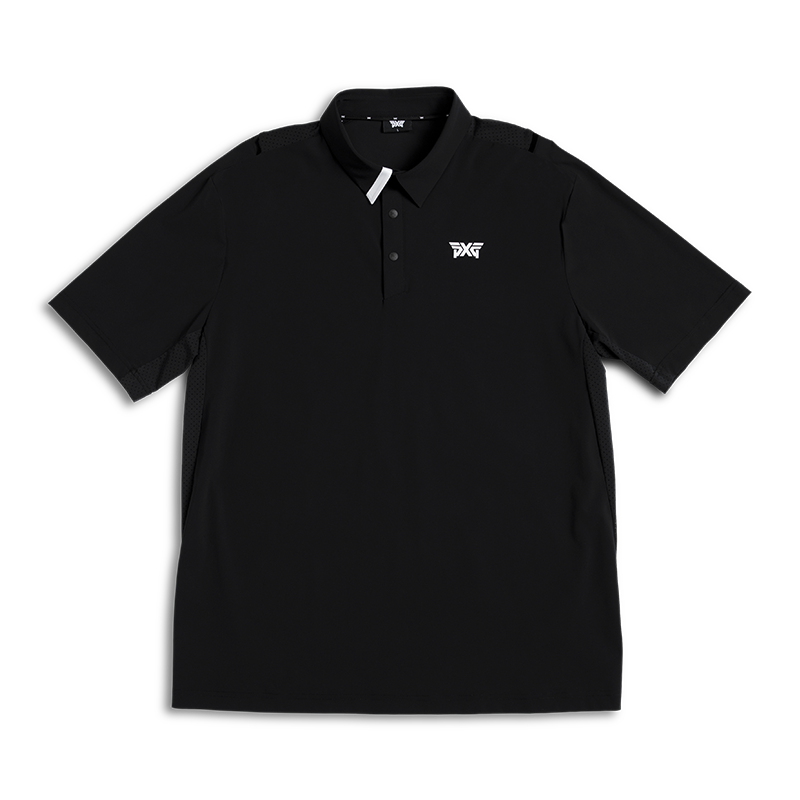 Mens-On-Point-Collar-Polo-Comfort-Black-Lay-Flat-800x800