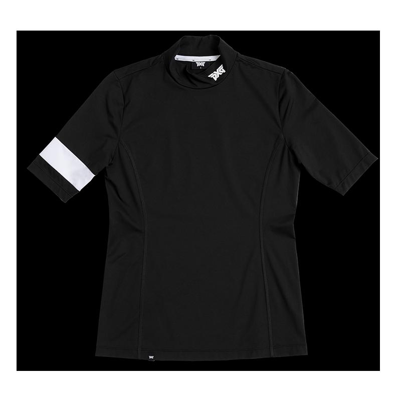 Womens-Banded-Mock-Neck-Shirt-Black-Lay-Flat-800x800-1