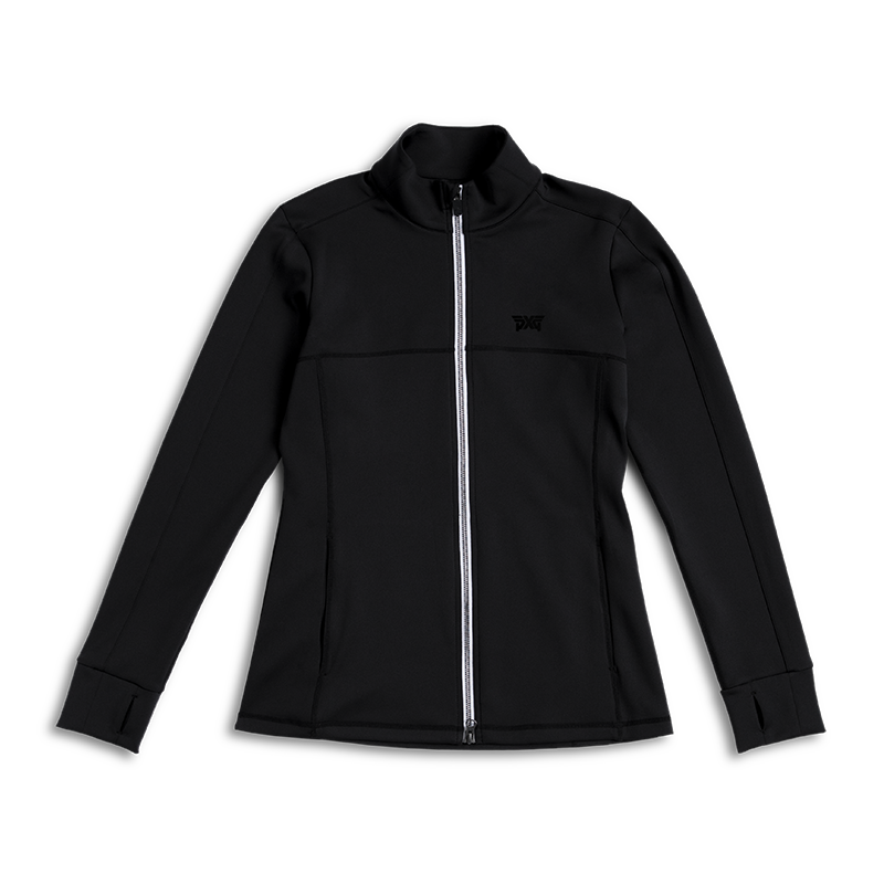 Womens-Mock-Neck-Jacket-Black-Lay-Flat-800x800