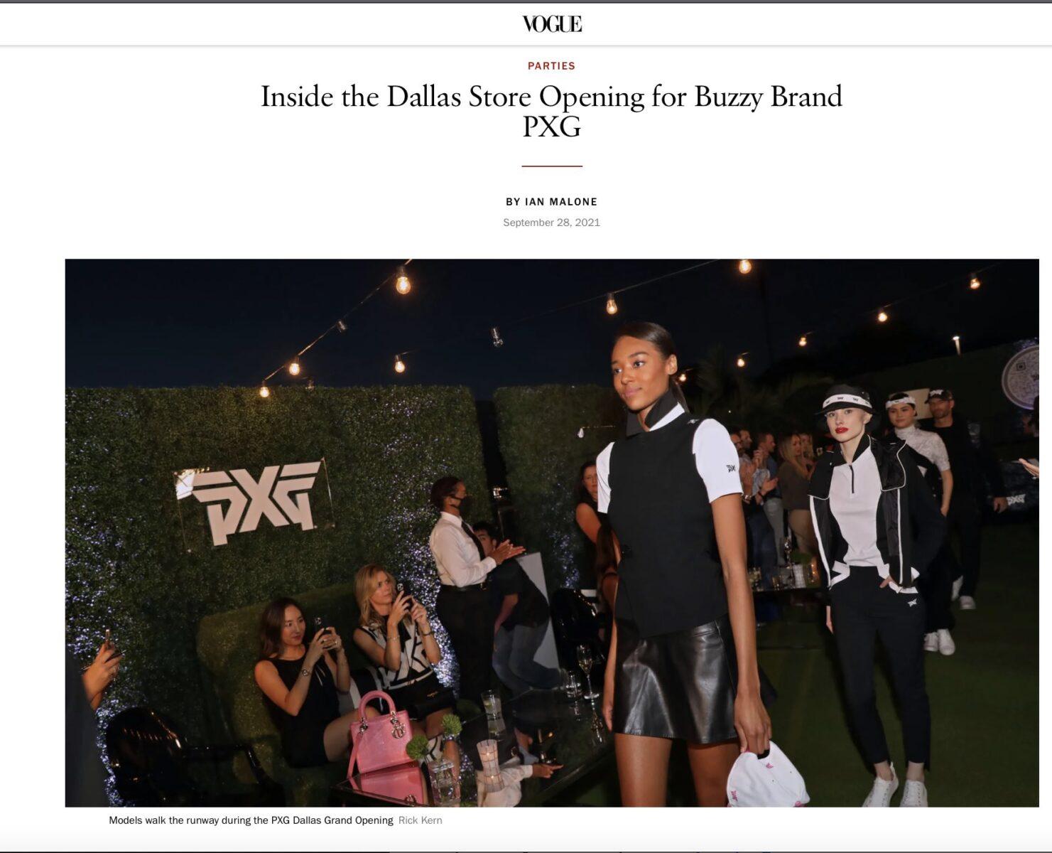 Vogue - PXG Dallas